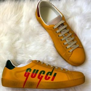 🆕 💯%Auth Gucci Sneakers Ace Gucci 10 / US 11
